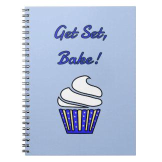 Get set bake blue cupcake notebook