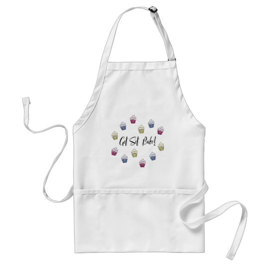 Get set bake colourful cupcakes standard apron