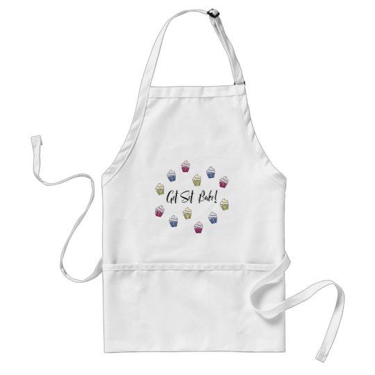 Get set bake colourful cupcakes standard apron