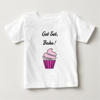 Get set bake pink cupcake baby T-Shirt