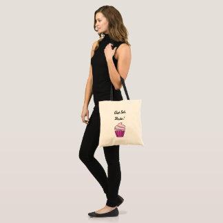Get set bake pink cupcake tote bag