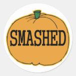 Get Smashed pumpkin Round Stickers
