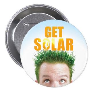 Get Solar Logo Ecofriendly Clean Energy Button