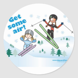 Get some air! classic round sticker