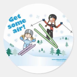 Get some air! round sticker