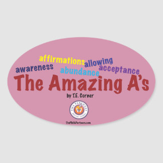 Get stuck with the Amazing A's sticker