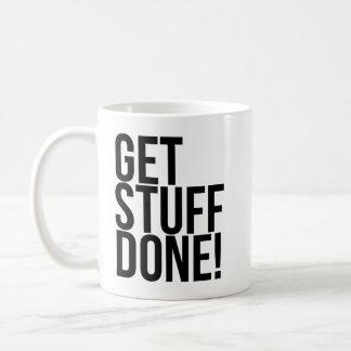 Get Stuff Done Basic White Mug