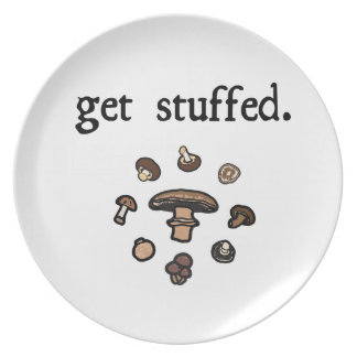 get stuffed. (mushrooms) party plate
