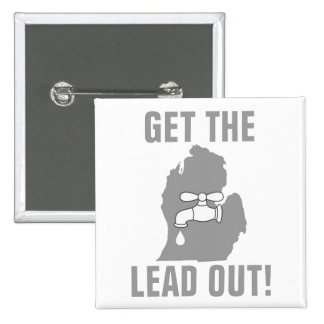 Get the Lead Out! - Michigan Water 15 Cm Square Badge