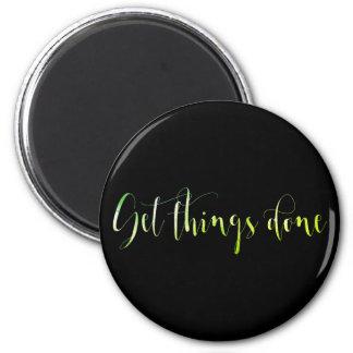 Get Thinks Done Motivational Mint Green Emerald Magnet
