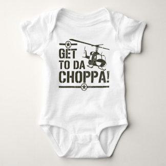 Get To Da Choppa Vintage Baby Bodysuit
