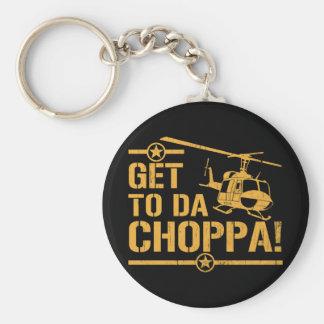 Get To Da Choppa Vintage Basic Round Button Key Ring