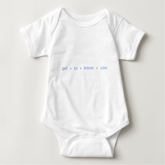 get to know you baby bodysuit
