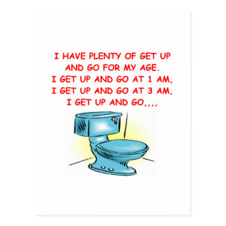 get up and go postcard