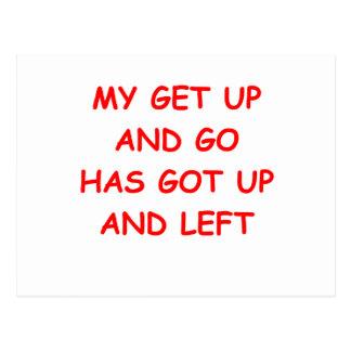 get up is gone postcards