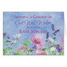 Get Well After Knee Surgery, Garden Flowers Card