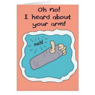 Get Well Better Soon Broken Arm Greeting Card