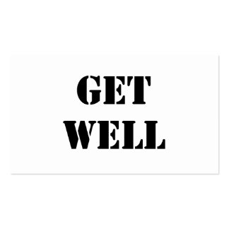 Get Well Business Card Templates