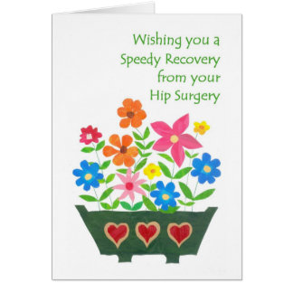 Get Well Card - Hip Surgery