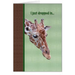 Get Well Card with Inquisitive Giraffe