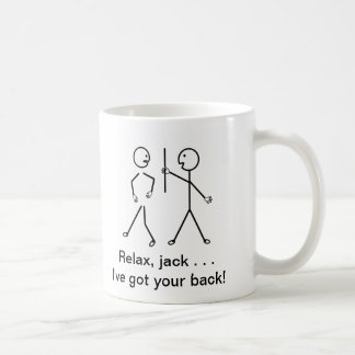 Get Well Cartoon - Relax Mac, I've Got Your Back! Basic White Mug