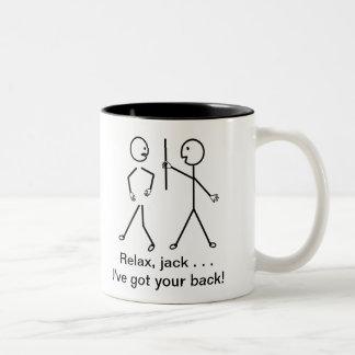 Get Well Comic - Relax Mac, I've Got Your Back! Two-Tone Mug