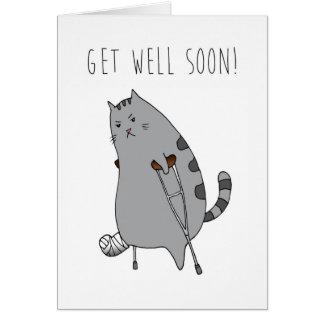 Get Well Feel Better Card: Broken Bone in a Cast Greeting Card