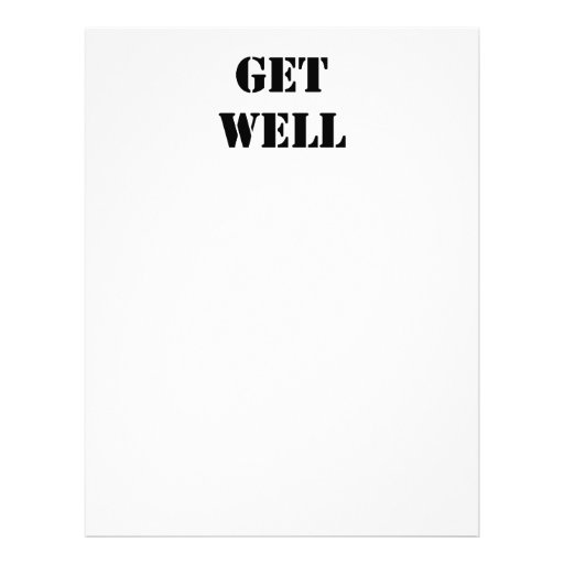 Get Well Personalized Flyer