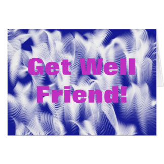 Get Well Friend Feather Wish Greeting Card