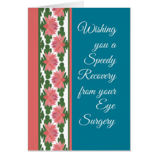 Get Well from Eye Surgery Card, Water Lilies Greeting Card
