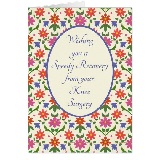 Get Well from Knee Surgery Card, Rangoli Flowers