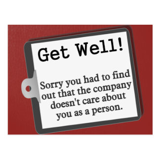 Get well from the group postcard