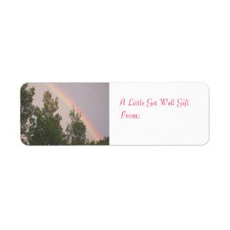 Get Well Gift Label Return Address Label
