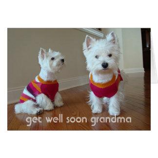Get Well Grandma Note Card