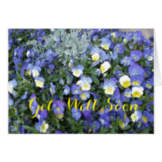 Get Well Greeting Card-Pansies Card