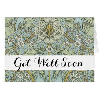 Get Well Greeting Card Template Morris Design