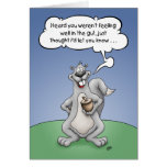 Get Well Humour, Squirrel Nuts Greeting Card
