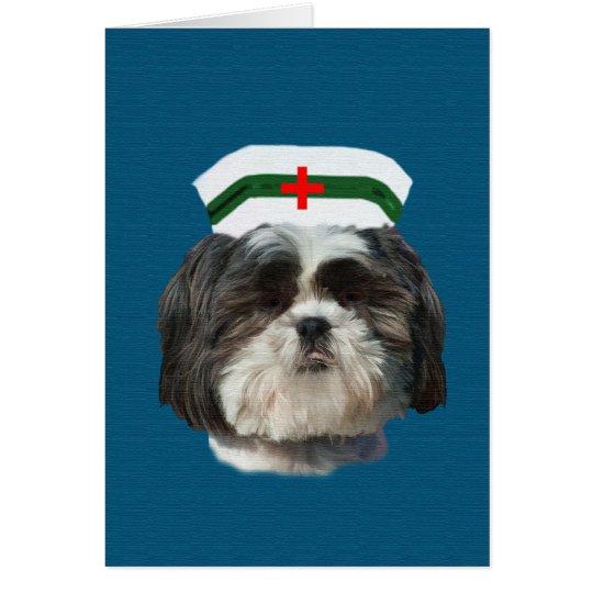 Get Well, Shih Tzu Dog Card