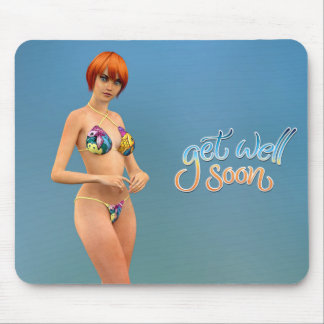 Get Well Soon Aiko Mouse Pad