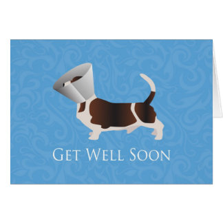 Get Well Soon - Basset Hound Male Card