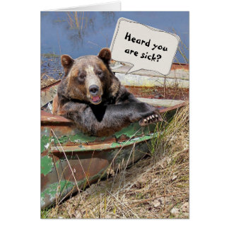 Get Well Soon Bear Humour Greeting Card