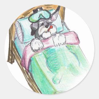 get well soon : bed round sticker