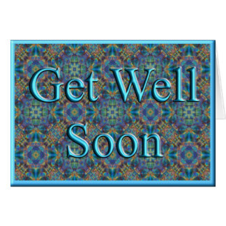 Get Well Soon Card: Fractal Art 627 Greeting Card