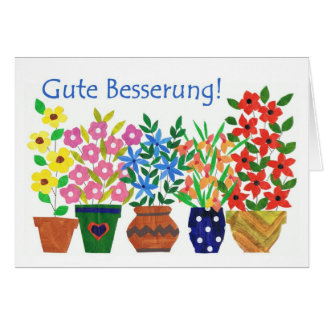 Get Well Soon Card - German Greeting