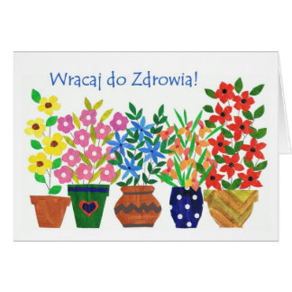 Get Well Soon Card - Polish Greeting