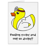 Get Well Soon Doctor Rubber Duck Card