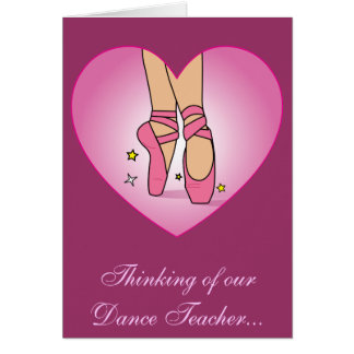 Get Well Soon for Dance Teacher Greeting Card