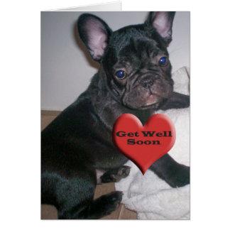 Get Well Soon French Bulldog Card