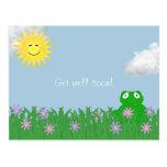 Get Well Soon Frog Postcard