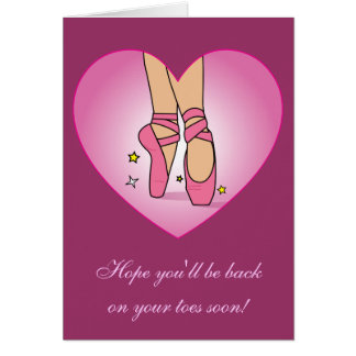 Get Well Soon from Dance Team or Dance Class Greeting Card